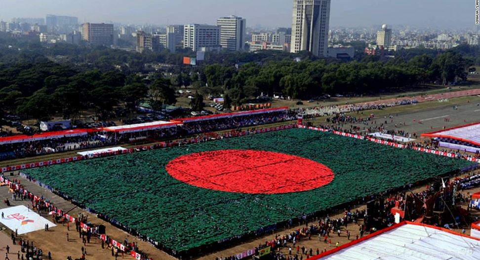 national flag of bangladesh record