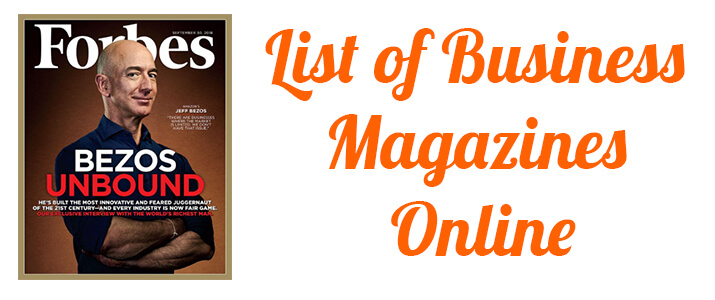 List Of Business Magazines
